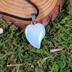 Opalite Crystal Heart Necklace for Sale in Orange, CT