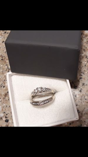 14K WEDDING RING AND BAND for Sale in Tolleson, AZ