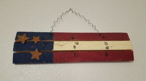 Wooden american flag decoration for Sale in Peoria, AZ