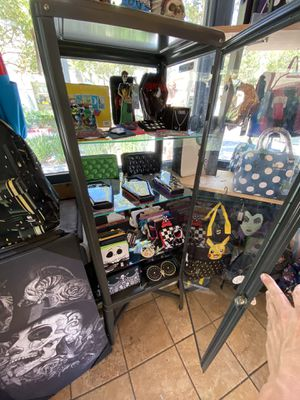 Vintage style metal cabinet for sale with Glass shelves for Sale in Eastvale, CA