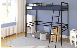 Metal Twin Loft Bed-Black color by DHP for Sale in Chicago, IL