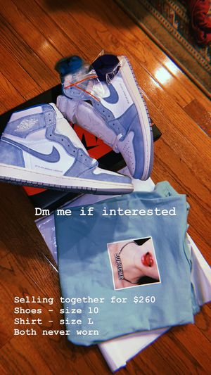 Air Jordan 1 Turbo Green DS and Supreme Tee DS for Sale in Bristow, VA