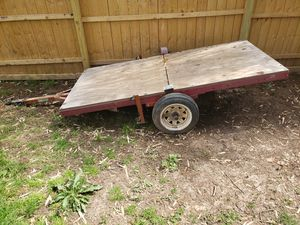 Fold up 4x8 trailer with title for Sale in Florissant, MO