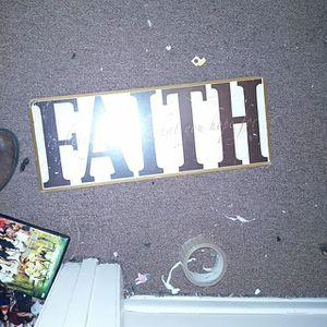 Faith wall hanger for Sale in Lynchburg, VA