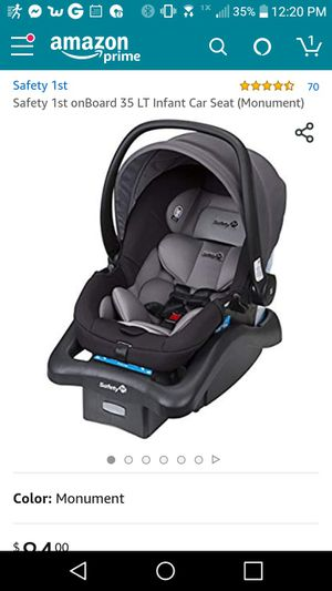 Safety first infant car seat and base for Sale in Prescott, AZ
