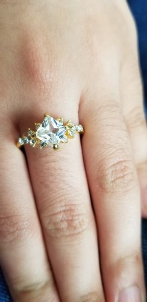 Gold plated Diamond cut Ring size 7 for Sale in Chicago, IL