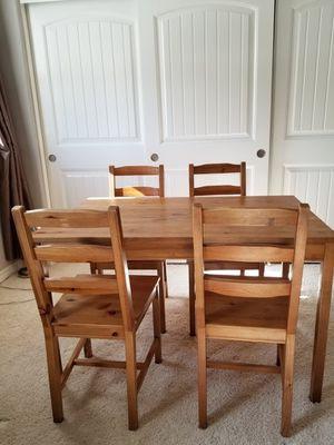 Jokkmokk IKEA Dining Table and 4 Chairs for Sale in Winchester, CA