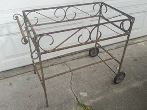 VINTAGE WROUGHT IRON GARDEN CART for Sale in San Jose, CA