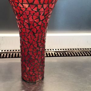 Red Mosaic Vase And More Clear Vases for Sale in Litchfield Park, AZ
