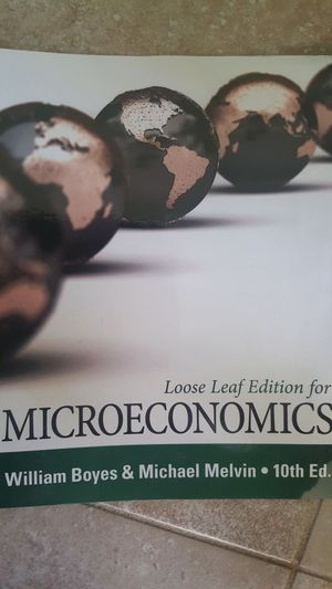Microeconomics loose leaf 10th Ed for Sale in Orlando, FL