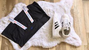 Women's Nike Top Size M $15 / Adidas Neo Cloud-foam Footbed Size 8 $45 for Sale in Beltsville, MD