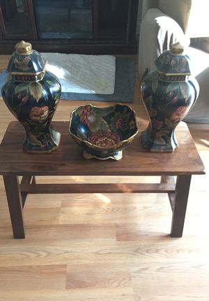 Decorative set bowl and 2 vases for Sale in Canton, MA