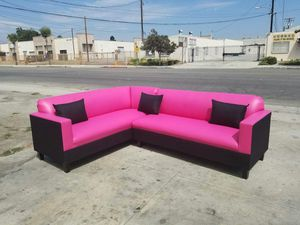 NEW 7X9FT PINK LEATHER COMBO SECTIONAL COUCHES for Sale in San Clemente, CA