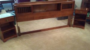 Headboard and 2 Nightstands for Sale in New Bern, NC