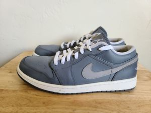 "Nike Air Jordan 1 Low Retro 'Cool Grey"" White 553558-003 Men's Size 11 for Sale in San Diego, CA"