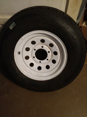 Carlisle sports trailer st225/75D15 4 play 6 lug center 4 in. Trailer tire brand new never been on trailer $100.00 no holds must pick up for Sale in Staunton, VA