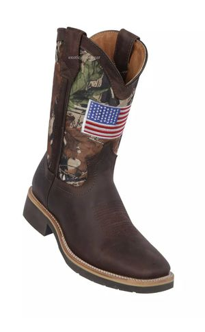 Genuine Leather Western Work Boots Embroidered American Flag for Sale in Moorpark, CA