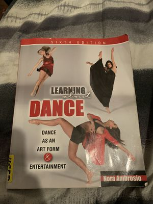 Learning About Dance Sixth Edition By Nora Ambrosio for Sale in Downey, CA