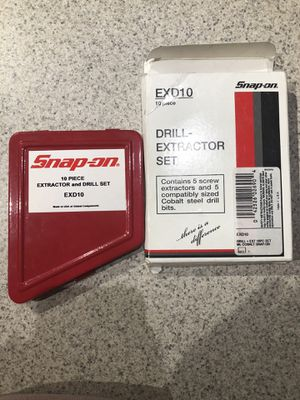 Like New Snap-on Drill Extractor Set for Sale in Ridgeway, SC