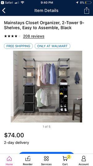 Closet organizer for Sale in Maricopa, AZ