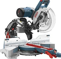 Bosch glide Miter Saw + Stand + Accessories for Sale in Fountain Valley,  CA