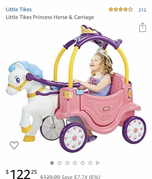 Little tikes princess horse and carriage