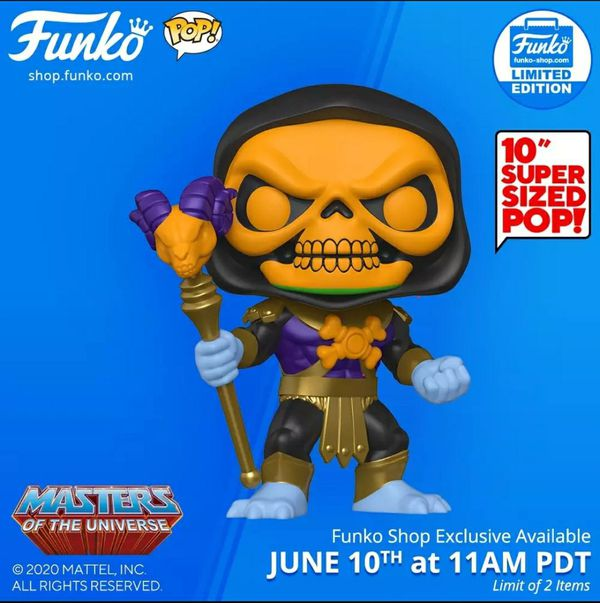 "Exclusive 10"" skeletor"