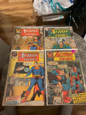 DC comic book lot of 4 vintage Superman in Action comics for Sale in Upland, CA
