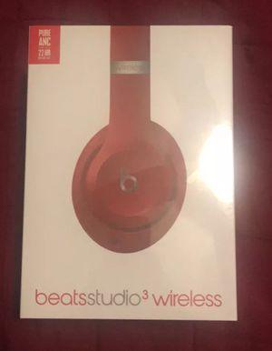 Beats Studio3 Wireless Headphones Red for Sale in Selma, CA