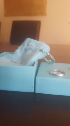 Pink Saphire Tiffany & Co sterling silver ring size 7 for Sale in Phoenix, AZ