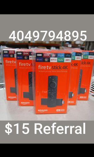 Happy Monday Amazon Firestick With Alexa Voice Remote Control for Sale in Atlanta, GA