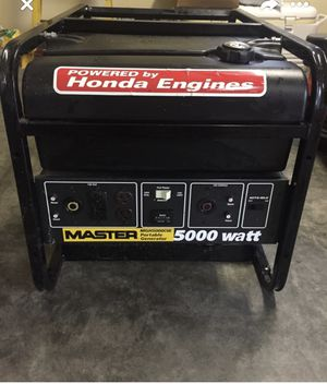 5000 watt Red and black Honda craftsman generator for Sale in Prattville, AL