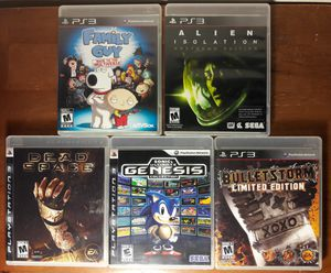 PS3 Video Game Lot playstation 3 games collection alien sega family guy dead space for Sale in Marietta, GA