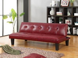 Brand new red leather futon $139 for Sale in Richmond, VA
