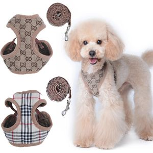 Dog or cat harness leash famous style g print plaid for Sale in Citrus Heights, CA