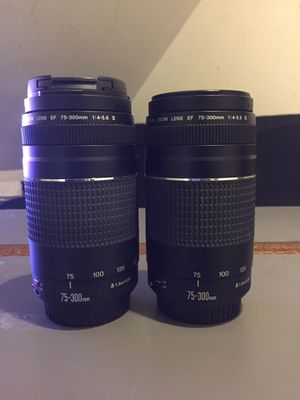 2 Canon 75-300mm lense for Sale in Waltham, MA
