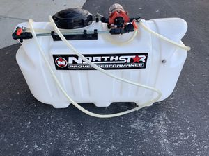 24 gallon Broadcast spreader for ATV or cart with pump for Sale in Anaheim, CA
