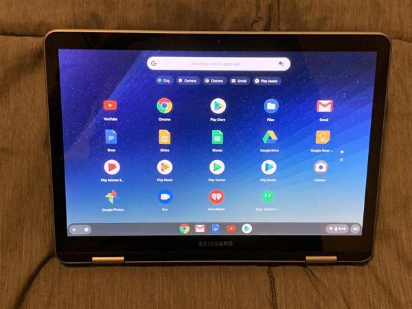 "Samsung Plus 2-in-1 12.2"" Touch-Screen Chromebook Intel Celeron 4GB Memory 32GB eMMC Flash Memory /w Pen Dual Camera"