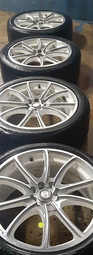 Wheels with tires. In good conditions. #18's universal. for Sale in Gurnee, IL