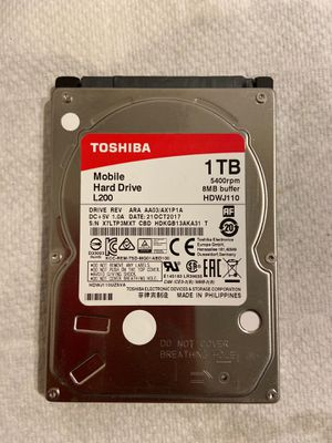 "Toshiba 1TB 2.5"" testes perfectly working hard drive for Sale in Naperville, IL"
