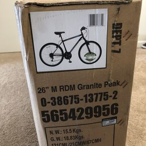 Roadmaster Granite Peak Mountain Bike - Black/Blue for Sale in Weymouth, MA