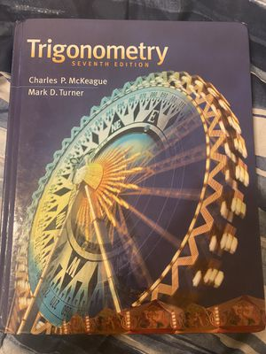 Trigonometry seventh edition for Sale in Long Beach, CA