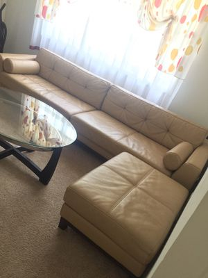 Real Leather sofa for Sale in Richmond, VA