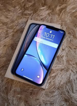 iPhone XR Blue 64gb UNLOCKED UNLOCKED for Sale in Kissimmee, FL