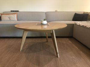 Solid white oak coffee table for Sale in San Dimas, CA