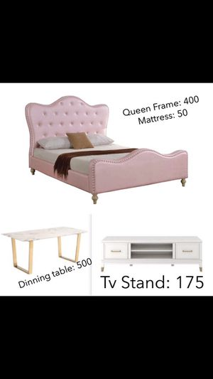 Pink bed, marble table and more for Sale in Los Angeles, CA