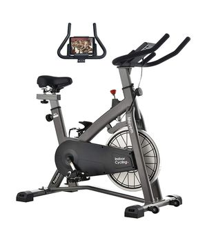 New Indoor Cycling Bike-Belt Drive Indoor Magnetic Exercise Bike,Indoor Stationary Bike for Home Cardio Gym Workout (Gray for Sale in Auburn, WA