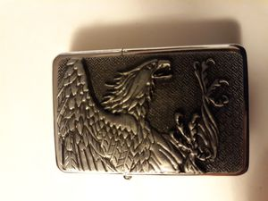 New etched eagle swooping in for the kill windproof oil lighter similar to zippo for Sale in Lancaster, OH