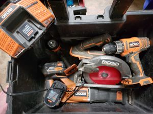 Rigid combo with ridgid rolling tote for Sale in Prattville, AL