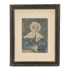 Antique 19th Century Hand Colored Photograph of Dutch Woman in Traditional Dress for Sale in Denver, CO